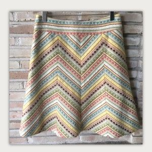 Chevron Stripe Skirt Nanette Lepore   4.